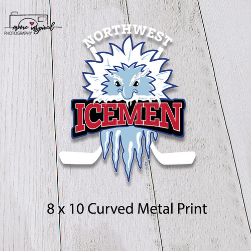 CURVED METAL PRINT NW ICEMEN