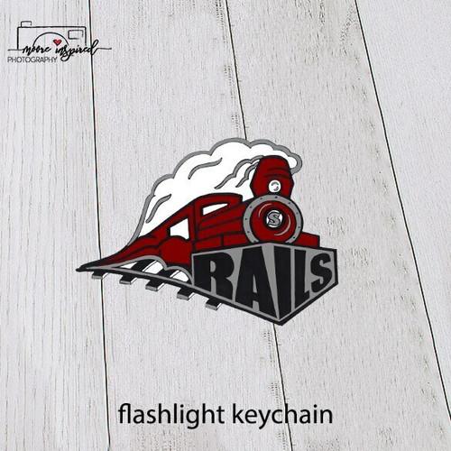FLASHLIGHT KEYCHAIN SPOONER BASEBALL