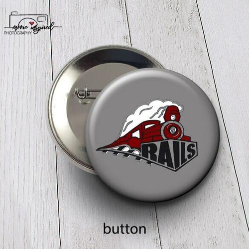 BUTTON SPOONER BASEBALL