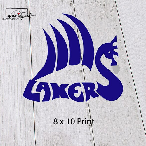 8 X 10 PRINT SHELL LAKE-BASEBALL