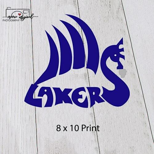 8 X 10 PRINT SHELL LAKE-TRACK