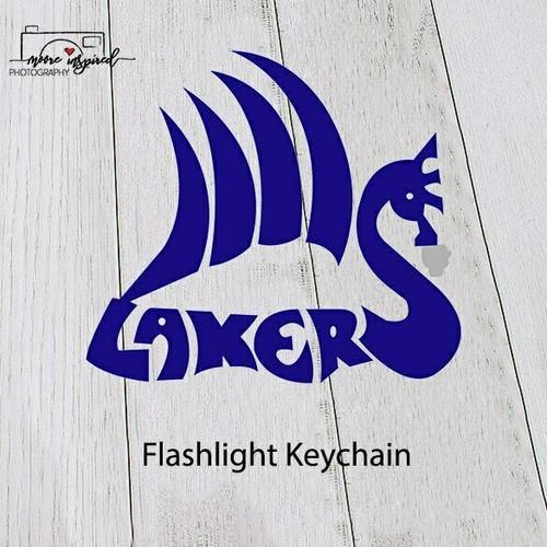 FLASHLIGHT KEY CHAIN SHELL LAKE-VOLLEYBALL