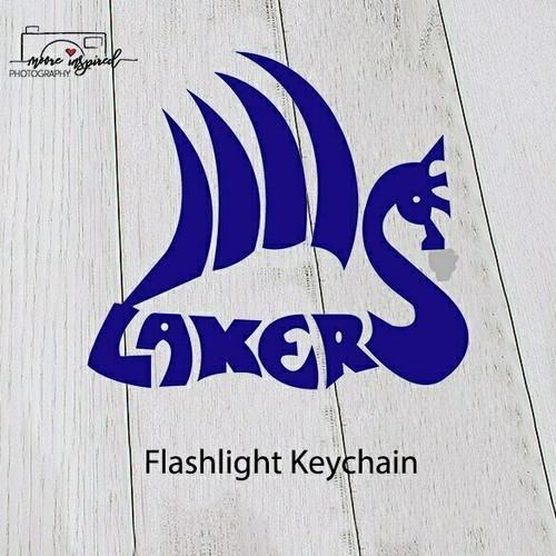 FLASHLIGHT KEY CHAIN SHELL LAKE-SOFTBALL 3-4TH GRADE