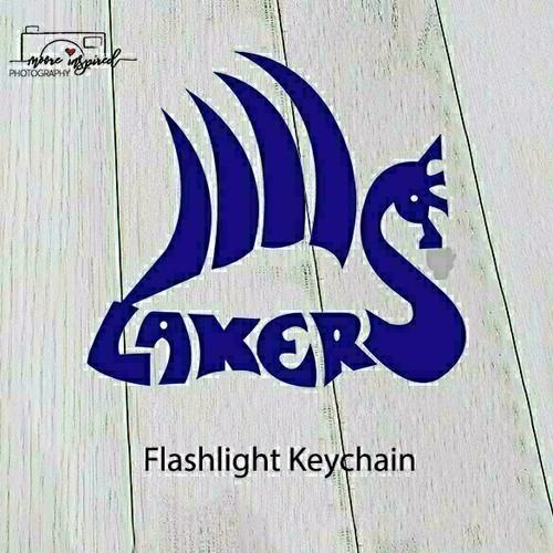 FLASHLIGHT KEY CHAIN SHELL LAKE-YOUTH BASEBALL BANTAMS