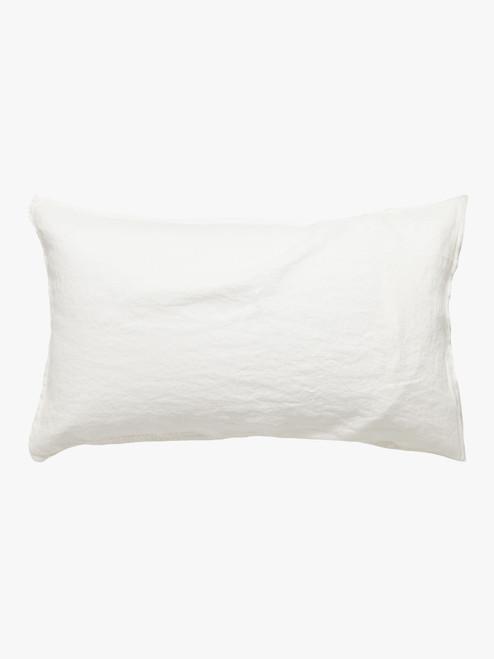 Mondo 100% French Linen - White, Pair Pillowcases