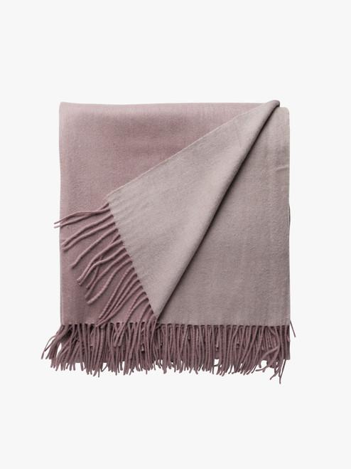 Cashmere Wool Mix Throw Blanket- Blush