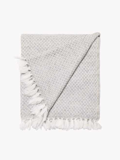 Copenhagen Throw - Silver, 100% Cashmere