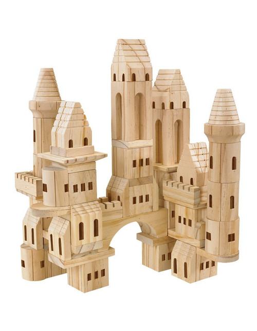 FAO Schwarz -Toy Wood Castle Blocks 75pcs