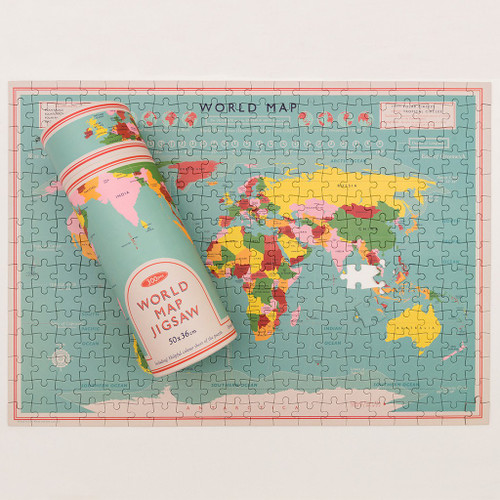REX LONDON -World Map Puzzle In A Tube