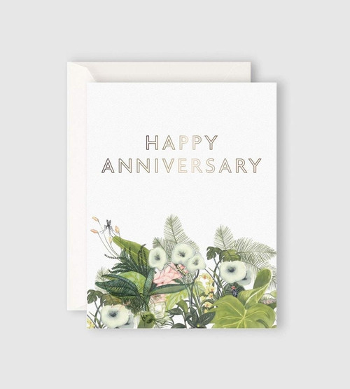 FATHER RABBIT STATIONERY   HAPPY ANNIVERSARY CARD