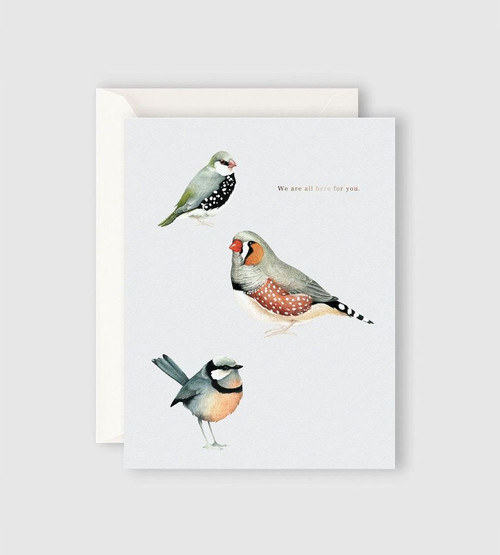 FATHER RABBIT STATIONERY | WE ARE ALL HERE FOR YOU CARD