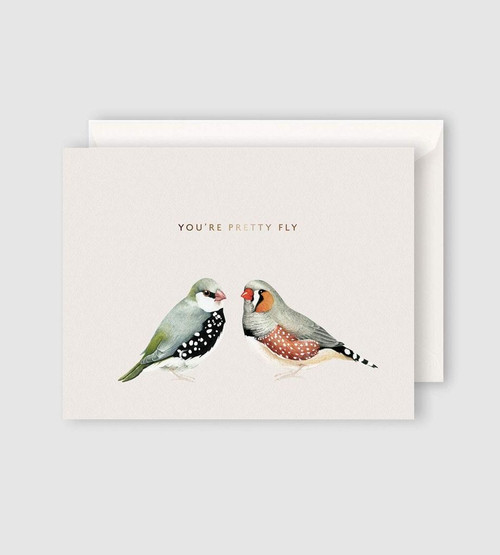 FATHER RABBIT STATIONERY   YOU'RE PRETTY FLY CARD