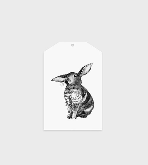 FATHER RABBIT STATIONERY GIFT TAG | BUNNY