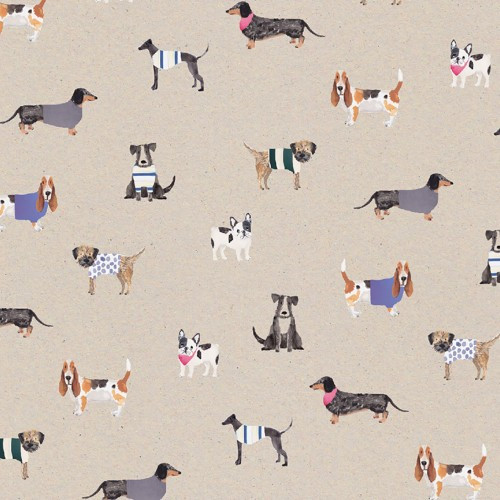 Gift Wrap 'Stop The Clock Dogs' Wrapping Paper Sheet