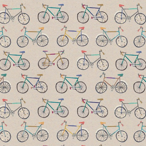 Gift Wrap 'Stop The Clock Bikes' Wrapping Paper Sheet