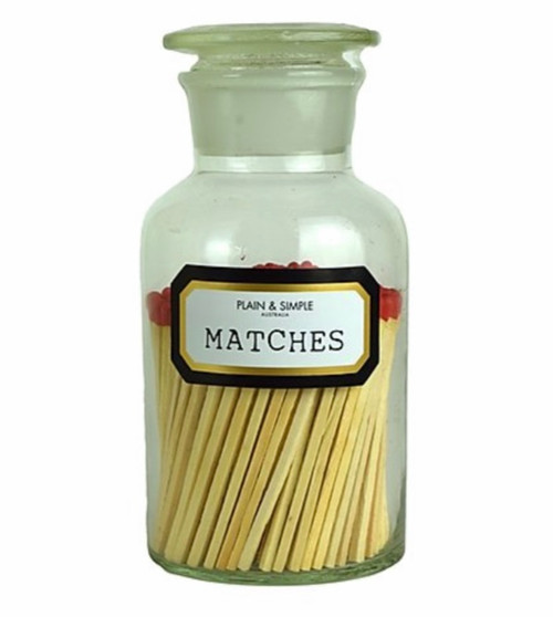 Plain & Simple - Apothecary Matches - Clear in Gift Box