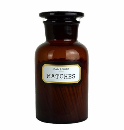 Plain & Simple - Apothecary Matches - Amber in Gift Box
