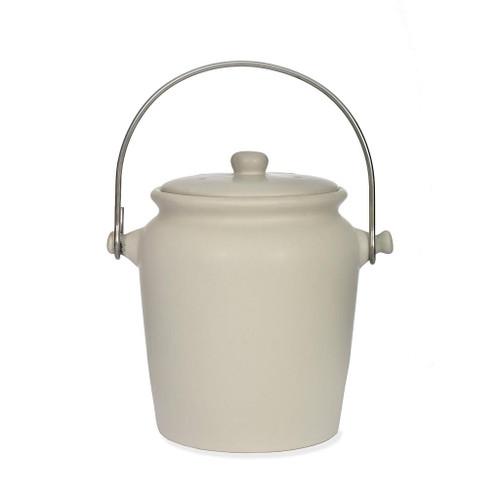 Garden Trading Ceramic Compost Crock off-white