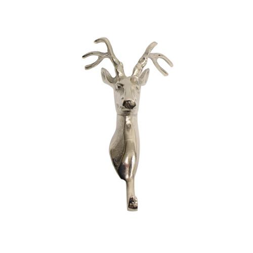 Single Silver Metal Reindeer Hook
