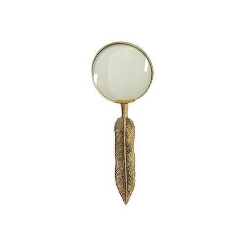 Leaf Design Magnifying Glass - Brass/Gold