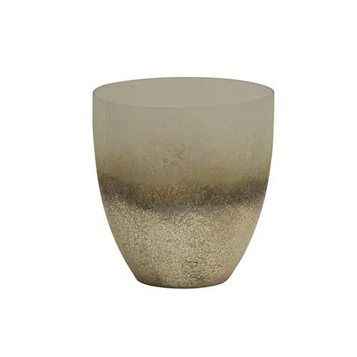 Large Grey Frost Votive Vase