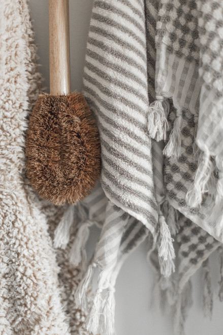 SAARDE WANDERER STRIPE TOWEL (PALE GREY)