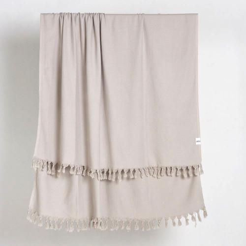 Vintage Wash Blanket Hand Loomed Cotton Flax SAARDE/ Atolya