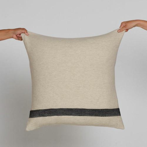 Kadir Linen Cushion by Saarde, Large Feather Insert Euro