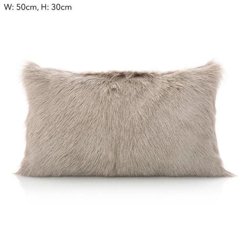 Goat Fur Cushion Grey
