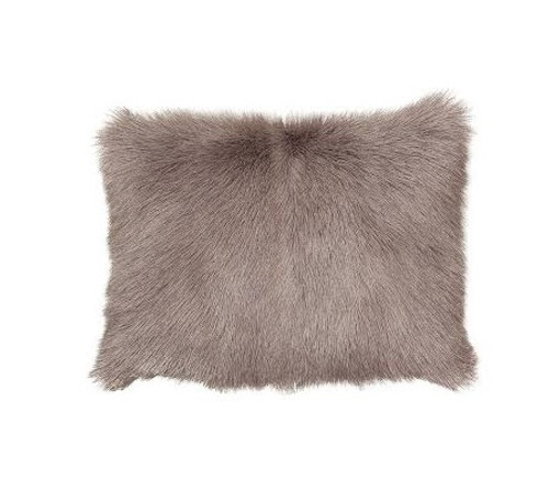 French Country Goat Fur Cushion Lilac