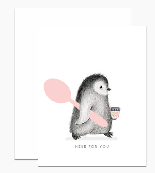 'Here For You' Penguin Dear Handcock Card