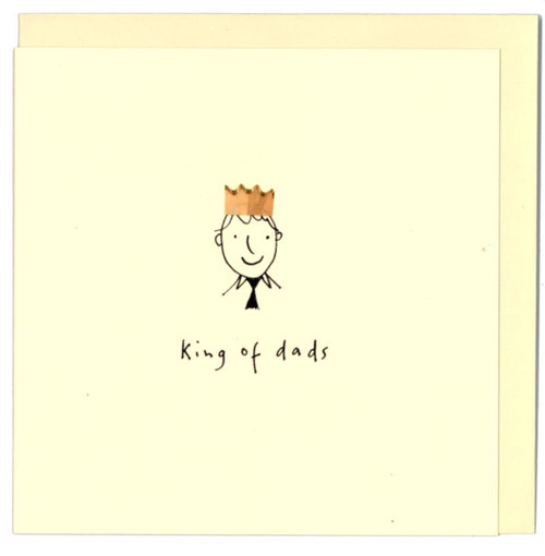 'King of Dads' Card Ruth Jackson Pencil Shaving Cards