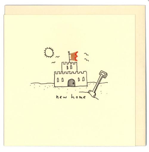 'New Home' Castle Card Ruth Jackson Pencil Shaving Cards