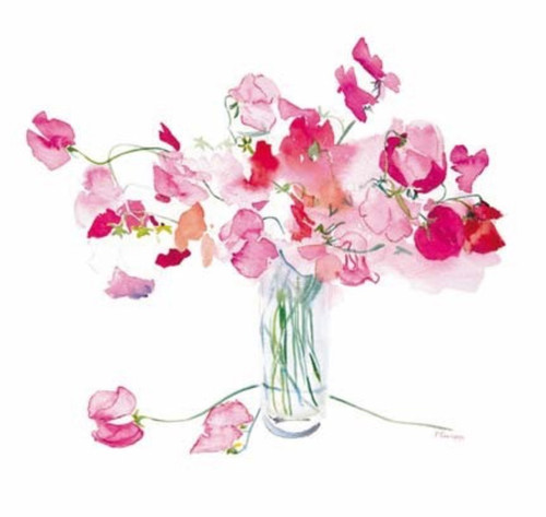'Sitting Pretty' Flowers Card - Woodmansterne