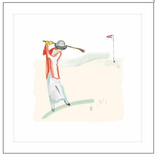 Bloomsbury Golfer Lady Card Millbank - Woodmansterne