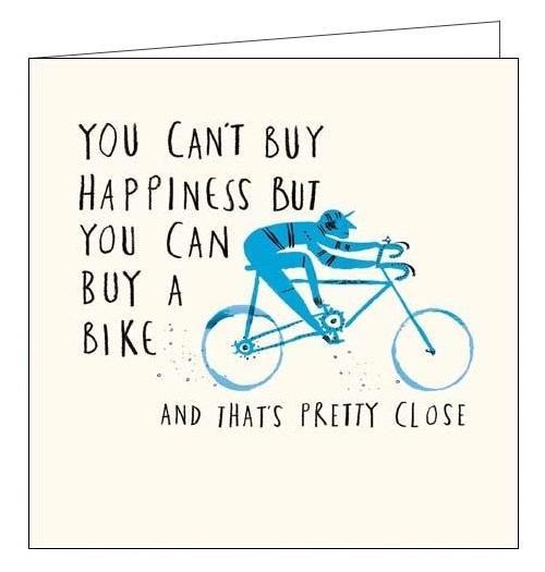 Bike Cycling Card Livin' It - Woodmansterne