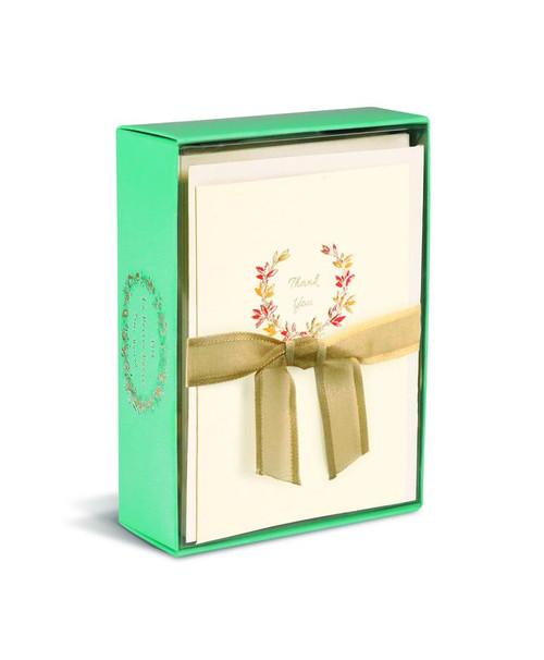 Boxed Cards- Thank you Autumn Wreath, La Petite Presse by Graphique de France.