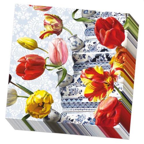 Paper Napkins by Bekking & Blitz - Tulip in Blue & White Vessel