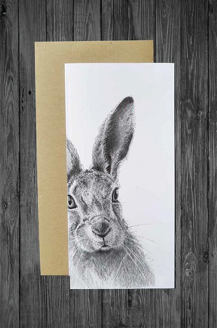 Cathy Hamilton Artworks - Hare Card