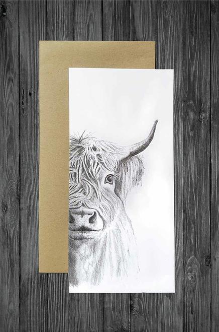 Cathy Hamilton Artworks - Highland Cow Card