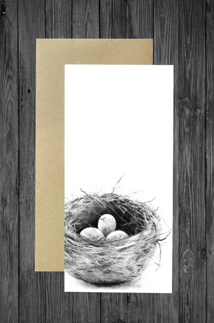 Cathy Hamilton Artworks - Bird Nest Card