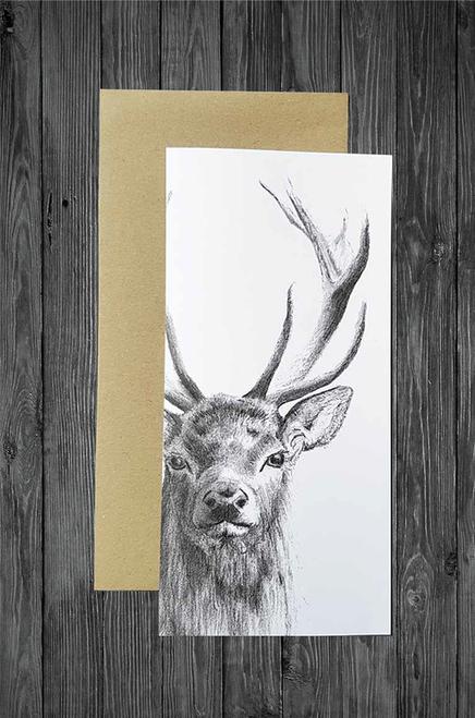 Cathy Hamilton Artworks - Deer Stag Card