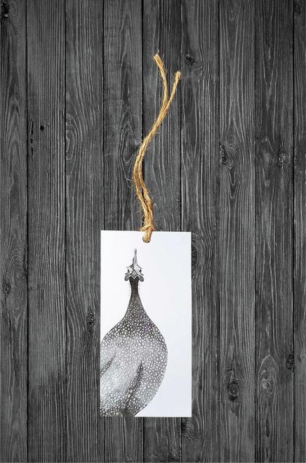 Cathy Hamilton Artworks- Guinea Fowl Gift Tag Card
