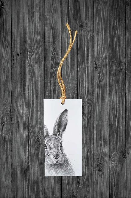 Cathy Hamilton Artworks- Hare Gift Tag Card