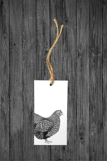 Cathy Hamilton Artworks- Hen Gift Tag Card