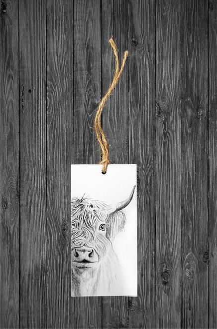 Cathy Hamilton Artworks- Highland Cow Gift Tag Card