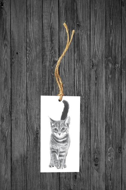 Cathy Hamilton Artworks- Kitten Gift Tag Card