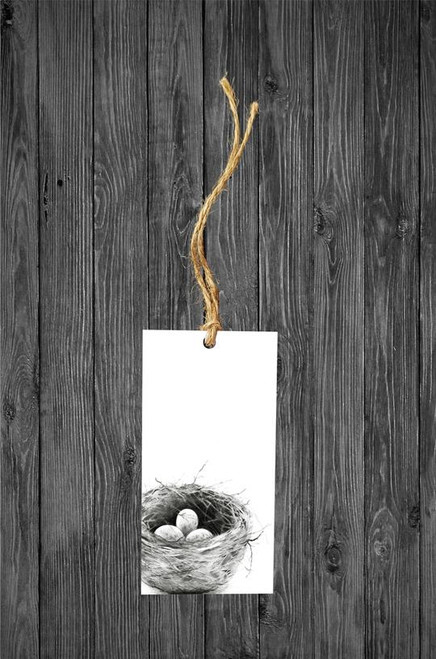Cathy Hamilton Artworks- Nest Gift Tag Card
