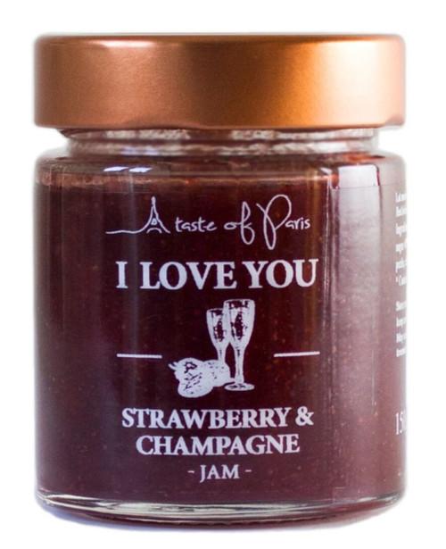 A Taste of Paris 'I Love You' - Strawberry & Champagne Jam 150g