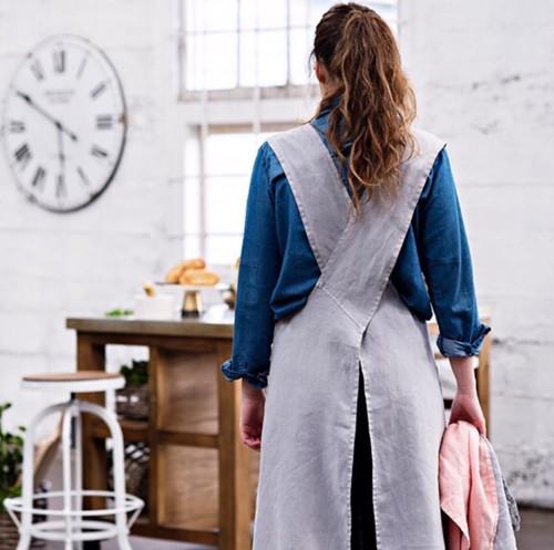 Apron - Luxury Linen Cross Back